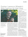 Explore Lawrence Wheeler's Nine Caprices for Solo Viola, Strings